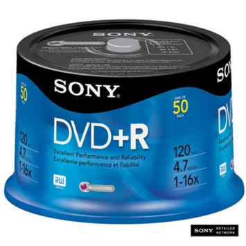 Sony 16x DVD+R 4.7GB Discs - 50 Pack Spindle