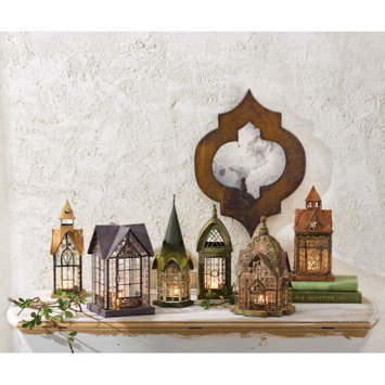 Signals Tealight Candle Lanterns - Set Of 6 Glass And Metal Architectural Houses