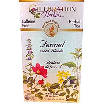 Celebration Herbals Organic Fennel Seed Blonde Tea Caffeine Free 24 Herbal Tea Bags