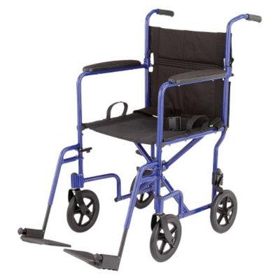 Medline Aluminum Transport Chair - Blue