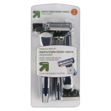 up & up up&up Men's Triple Blade Disposable Razors - 4ct