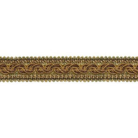 DecoPro Baroque Collection Trims BROWN GOLD Baroque Collection Gimp Braid 1-1/4