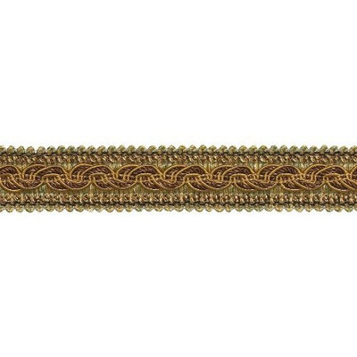 DecoPro Baroque Collection Trims BROWN GOLD Baroque Collection Gimp Braid 1-1/4