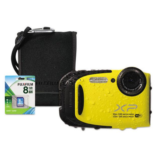 Fuji 600013634 Fuji FinePix XP70 Digital Camera Bundle, 16.4 MP, 5x Optical Zoom, Yellow
