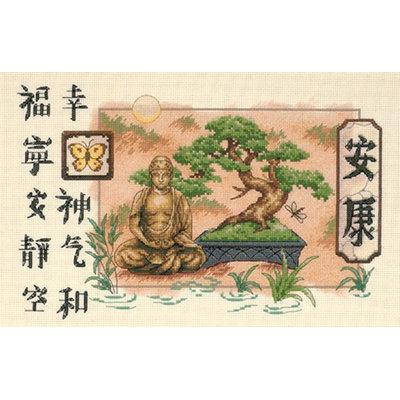 Dimensions Bonsai and Buddha Counted Cross Stitch Kit
