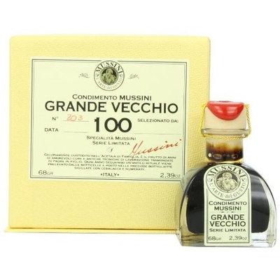Mussini 100 Year Balsamic Vineagr, Il Grande Vecchio, 2.39 Ounce Glass Bottle