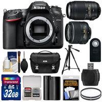 Nikon D7200 Wi-Fi Digital SLR Camera Body - Factory Refurbished with 18-55mm VR II & 55-300mm Lenses + 32GB Card + Battery + Case + Tripod + Filters + Kit