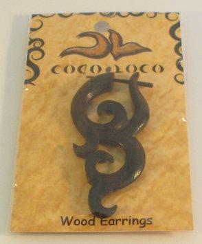 Post Earrings Wood Brown Coco Loco 1 Pair Earring