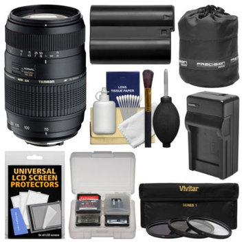 Tamron 70-300mm f/4-5.6 Di LD Macro 1:2 Zoom Lens (BIM) with EN-EL15 Battery & Charger + 3 Filters + Pouch + Kit for Nikon D7000, D7100, D600, D610, D800, D810 DSLR Cameras
