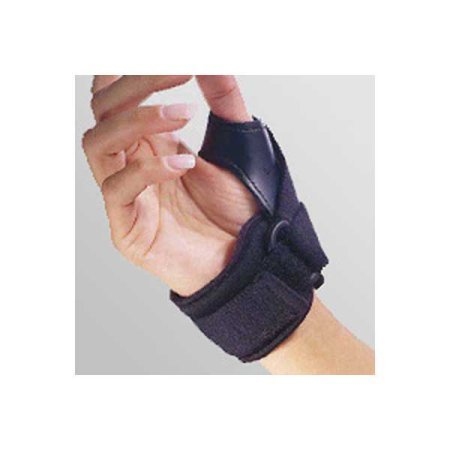 FLA Orthopedics 25-161MDBLK Tether Thumb Stabilizer Left Black Medium