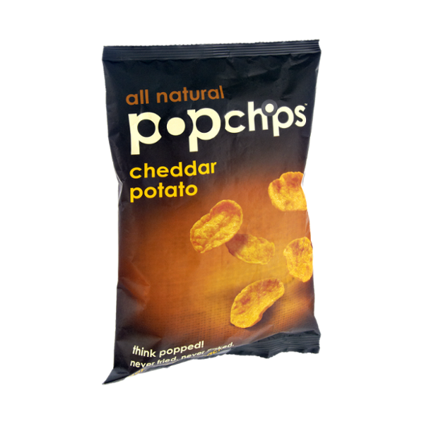 All Natural Popchips Cheddar Potato Popped Chip Snack