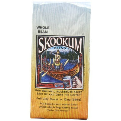 Raven's Brew Whole Bean Skookum Blend, 12-Ounce Bags (Pack of 2)