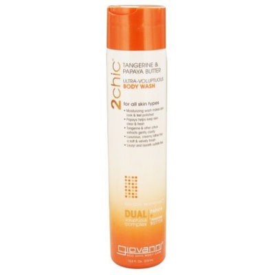 Giovanni 2chic Tangerine & Papaya Butter Ultra-Voluptuous Body Wash, 10.5 oz