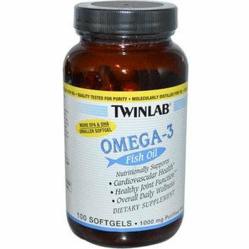 Twinlab Omega-3 Fish Oil 1000 mg 100 Softgels