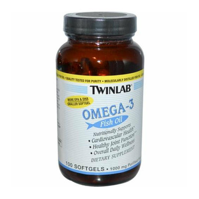 Twinlab Omega-3 Fish Oil 1000 mg 100 Softgels
