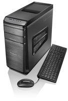 Lenovo K450e Desktop Computer - Intel Core I5 I5-4460 3.20 Ghz - Tower - Black Gray - 12GB RAM - 1TB Hdd - Dvd-writer - Nvidia Geforce Gt 720 - 2GB Graphics - Windows 8.1 64-bit - (57327392)