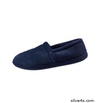 Silvert's Silverts 510600103 Memory Foam Comfort Terry Fleece Bedroom Slipper for Mens Navy - Large