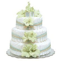 Bloomers Large Mint Green Gladiolas Diaper Cakes by Bloomer