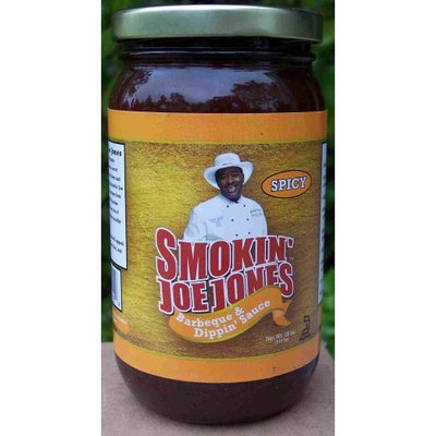 Spicy BBQ Sauce By Smokin' Joe Jones 18-oz. Net Wt. Glass Twin Pack Jar. Smokin' Joe Added a Little Cayenne and Black Pepper to the Original Mild Barbecue Sauce. Add to Ground Beef for a Tangy Hamburger or Meatloaf. No Msg, 0 Cholesterol, 0 Fats, No Preservatives.