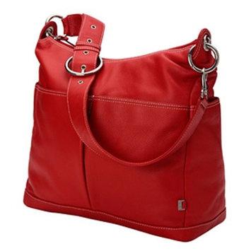 Oioi Oi Oi Leather 2 Pocket Hobo Diaper Bag (Pompei Red)