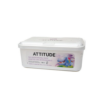 Attitude Eco-Baby Wipes Tub