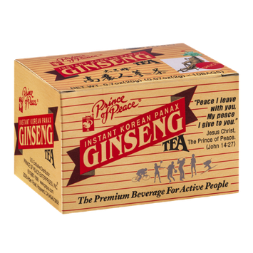 Prince of Peace Instant Korean Panax Ginseng Tea Bags - 10 CT