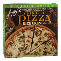 Amy's Pizza Spinach Rice Crust Gluten Free