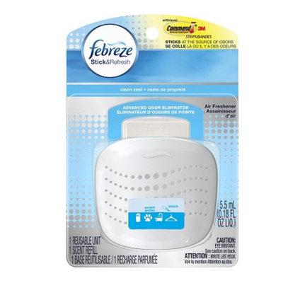 Febreze Stick & Refresh Air Freshener Starter Kit Clean Zest