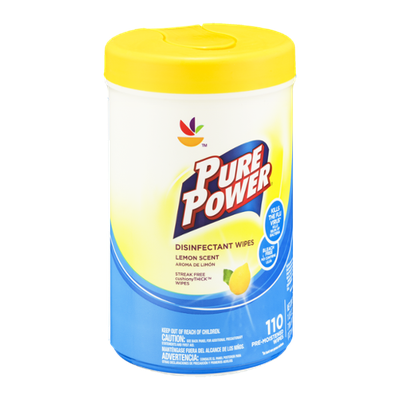 Ahold Pure Power Disinfectant Wipes Lemon Scent