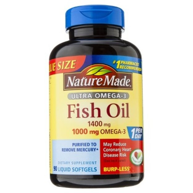 Nature made ultra omega 3 fish oil 1400 mg softgels 90 for Nature s bounty fish oil review