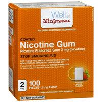 Walgreens Nicotine Gum, 2 mg, Fruit, 100 ea