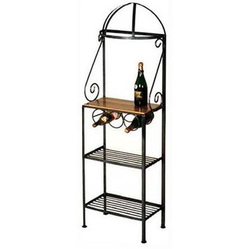 Grace Niabell Bakers Rack with 3-Bottle Wine Rack