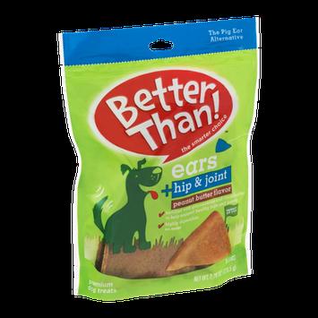 Better Than! Ears Premium Dog Treats Hip & Joint Peanut  Butter - 9 CT