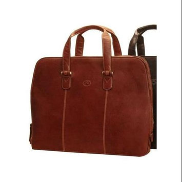 Tony Perotti Classic 17 in. Zip Around Leather Laptop Bag (Red)