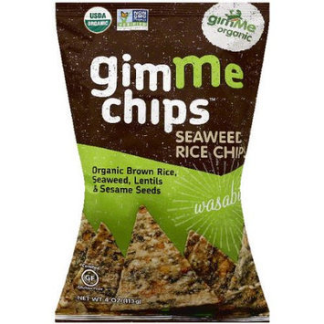 Gimme Clips GimMe Organic Gimme Chips Wasabi Seaweed Rice Chips, 4 oz, (Pack of 12)