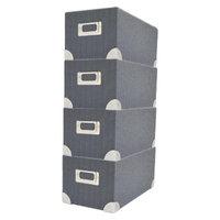 Threshold Media Box - Set of 4 - Yarn Dye