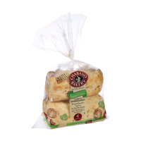 Chabaso Bakery Artisan Breads Toasted Onion Ciabatta Sandwich Rolls - 4 CT