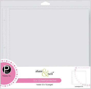Pebbles Inc Share & Tell Page Protectors, 12