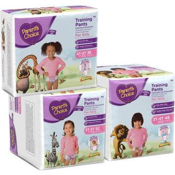 Parents Choice Parent's Choice Girls' Training Pants, Super Pack, (Choose Your Size)