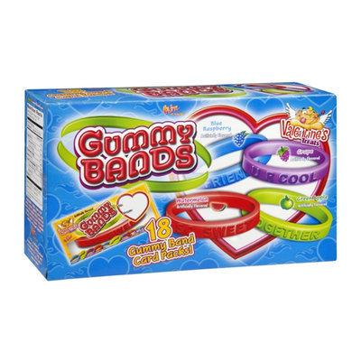 Flix Candy Gummy Bands Valentine's Treats Card Packs - 18 CT