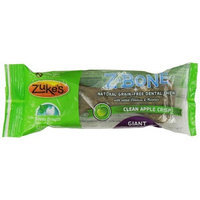 Zuke's Z-Bones Edible Grain-Free Dental Chews, Clean Apple Crisp, Giant 3.88-Ounce, Individually Wrapped Bone