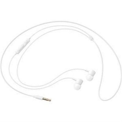 Samsung HS130 Wired Headset w/ Inline Mic, White - Stereo - White - Wired - 32 Ohm - 20 Hz - 20 kHz - Earbud - Binaural - In-ear - 3.94 ft Cable