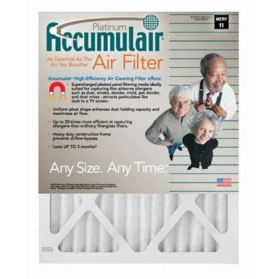 10x16x1 (9.5 x 15.5) Accumulair Platinum 1-Inch Filter (MERV 11) (4 Pack)