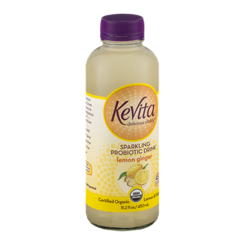 KeVita Delicious Vitality Sparkling Probiotic Drink Lemon Ginger