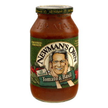 Newman's Own All Natural Tomato & Basil Pasta Sauce