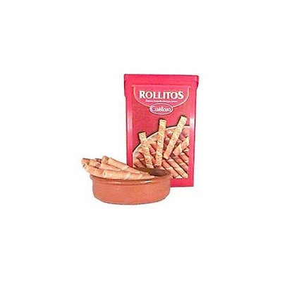 Cuetara Rollitos Spanish Wafer Cookies - Barquillos (1 box - 8oz/225g)