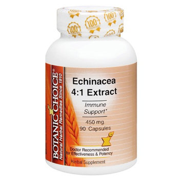 Botanic Choice Echinacea 4:1 Extract 450 mg Herbal Supplement Capsules