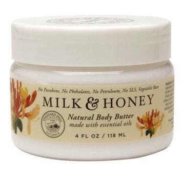 Vineyard Hill Naturals Natural Body Butter, Milk & Honey, 4 fl oz