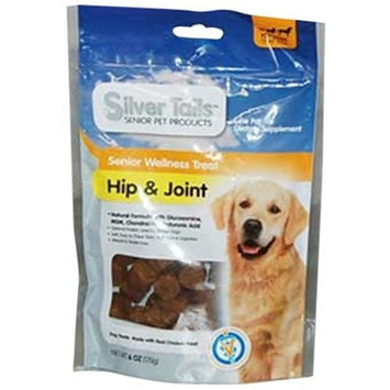 Silver Tails Natural Smoke Hip and Joint Wellness Dog Soft Chew Treats, 6-Ounce