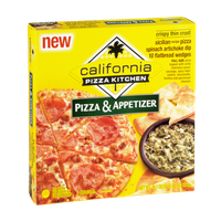 California Pizza Kitchen Crispy Thin Crust Pizza & Spinach Artichoke Dip Appetizer
